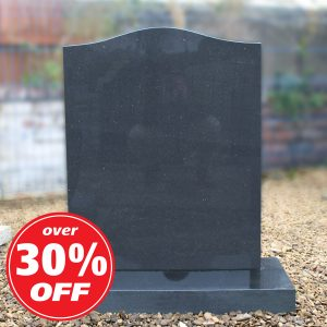Dark grey ogee headstone by CJ Ball Memorials
