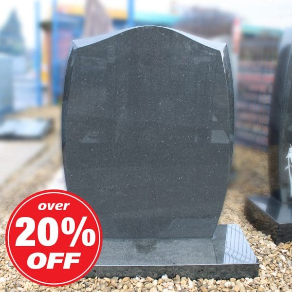 Grey headstone with rounded top by CJ Ball