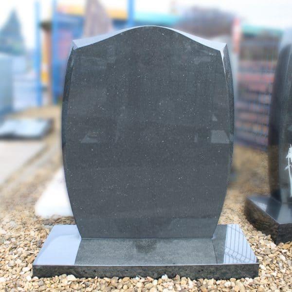 Grey granite ogee headstone by CJ Ball & Son Memorials