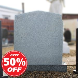 Grey pointed headstone by CJ Ball Memorials
