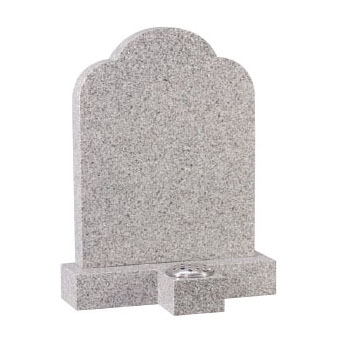 CJ Ball grey headstone with stem holder