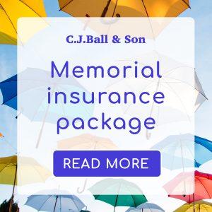 CJ Ball memorial insurance service
