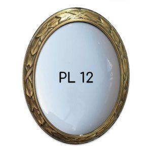 Round bronze memorial photo frame