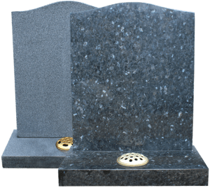 Grey headstones on transparent background
