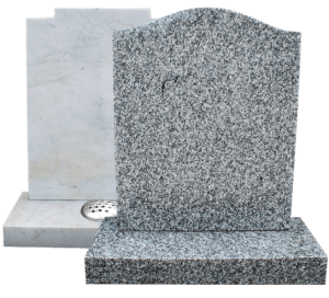 Grey headstones on transparent background