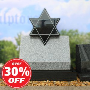Grey 'Star of David' headstone by CJ Ball memorials