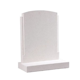 White rounded headstone by CJ Ball memorials