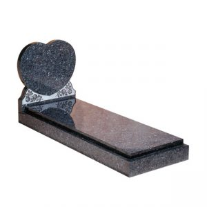EC114 Blue Pearl granite with engraved rose ornament and cover slab