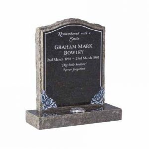 CJ Ball wales gravestone grave stone memorial vase set cremation burial