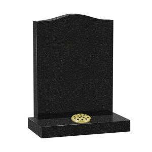 CJ Ball Black Star Galaxy Granite Headstone with Flower Container