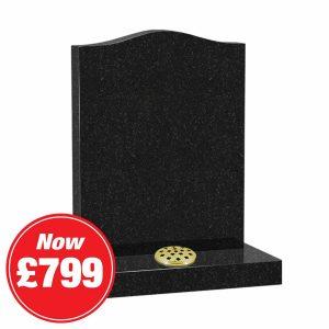 Black Galaxy Granite Ogee Headstone Offer Image