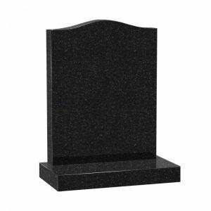 Black granite ogee headstone by CJ Ball Memorials