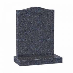 Blue Pearl granite ogee headstone by CJ Ball Memorials