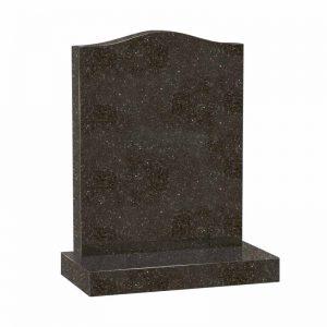 Star Galaxy granite ogee headstone memorial by CJ Ball