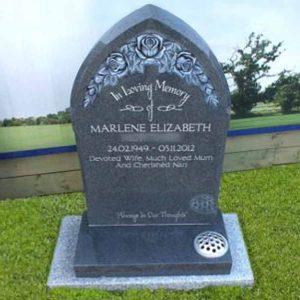 CJ Ball lawn memorial with classic sub base